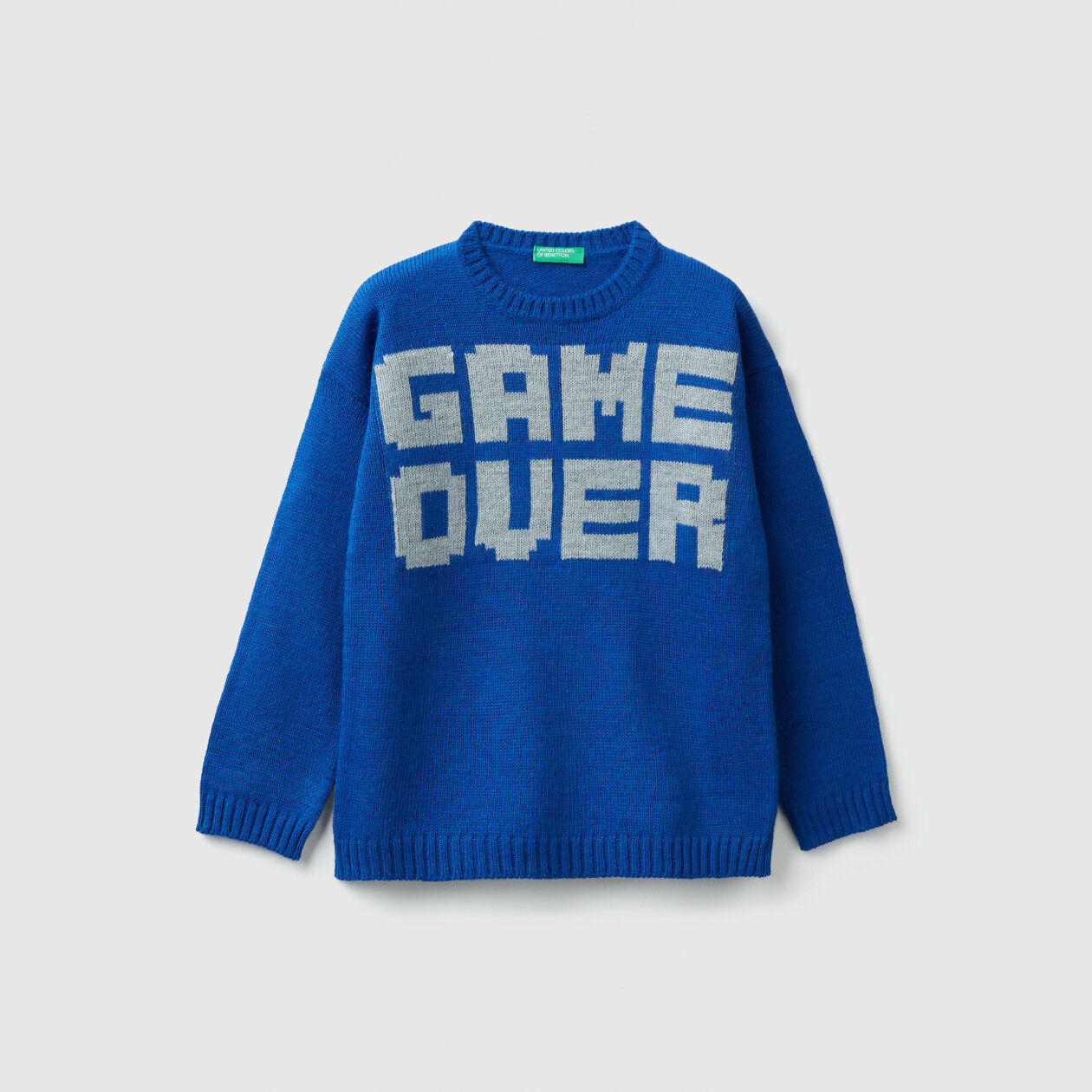 Tricot sweater with slogan
