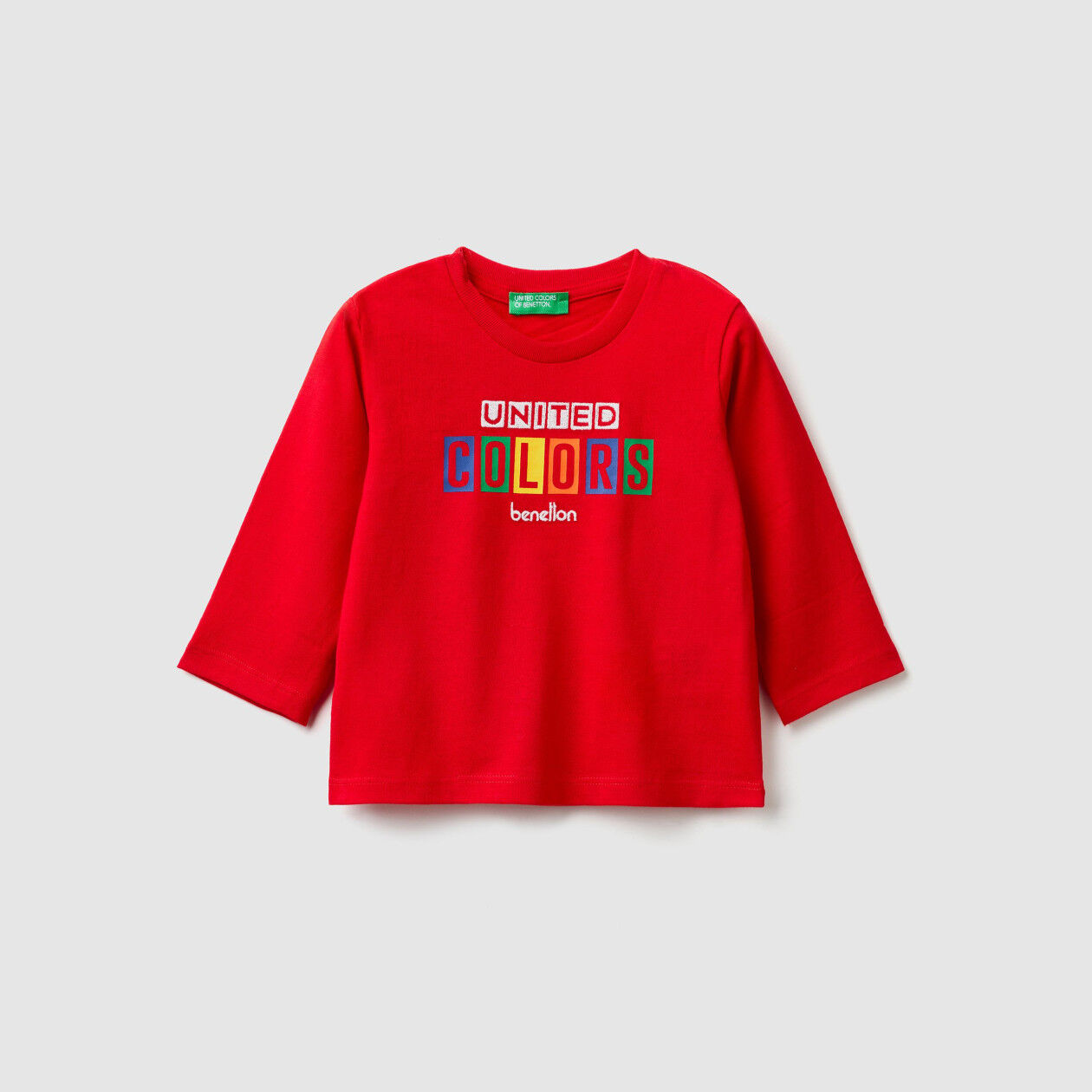 Warm cotton t-shirt with logo