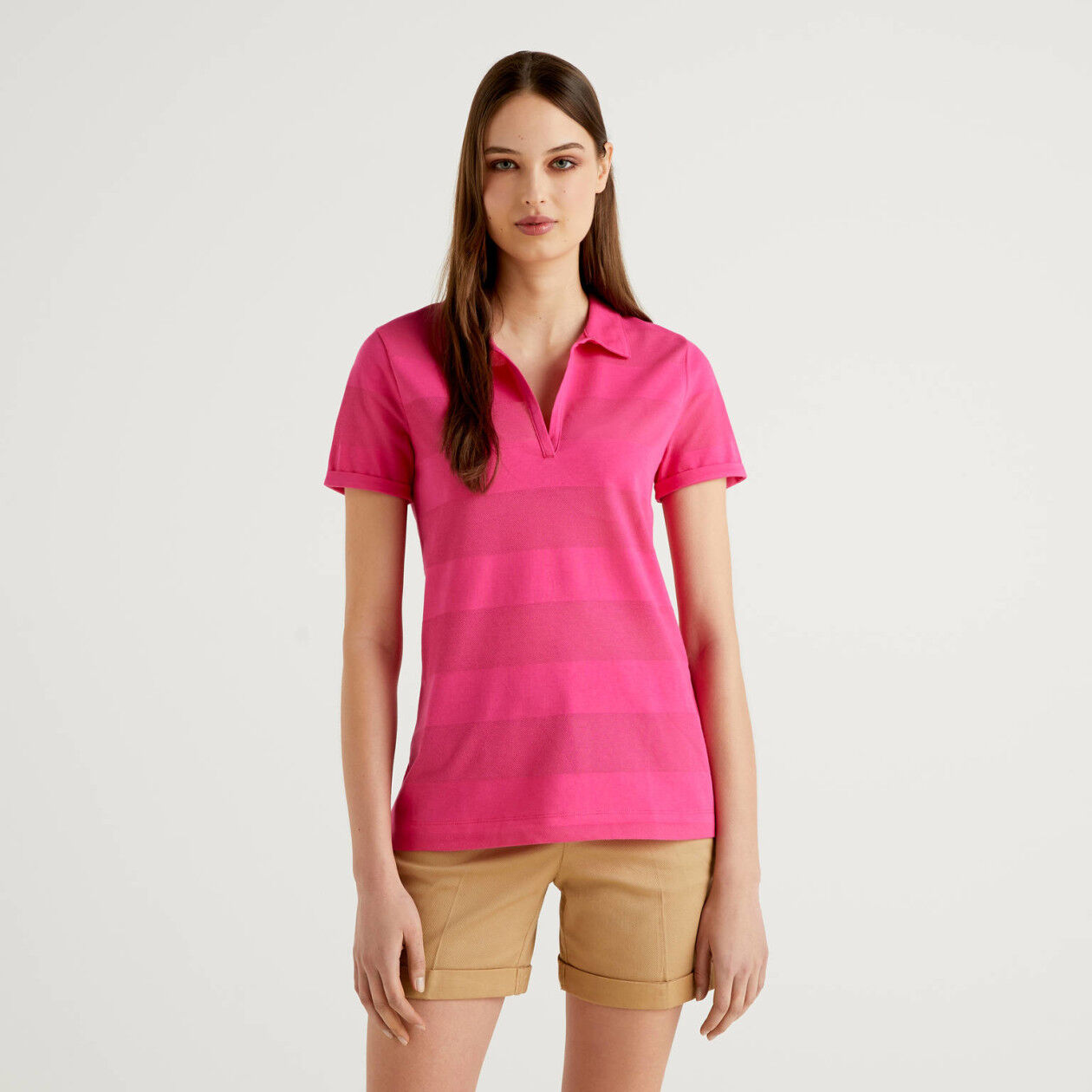 Polo with V-neck