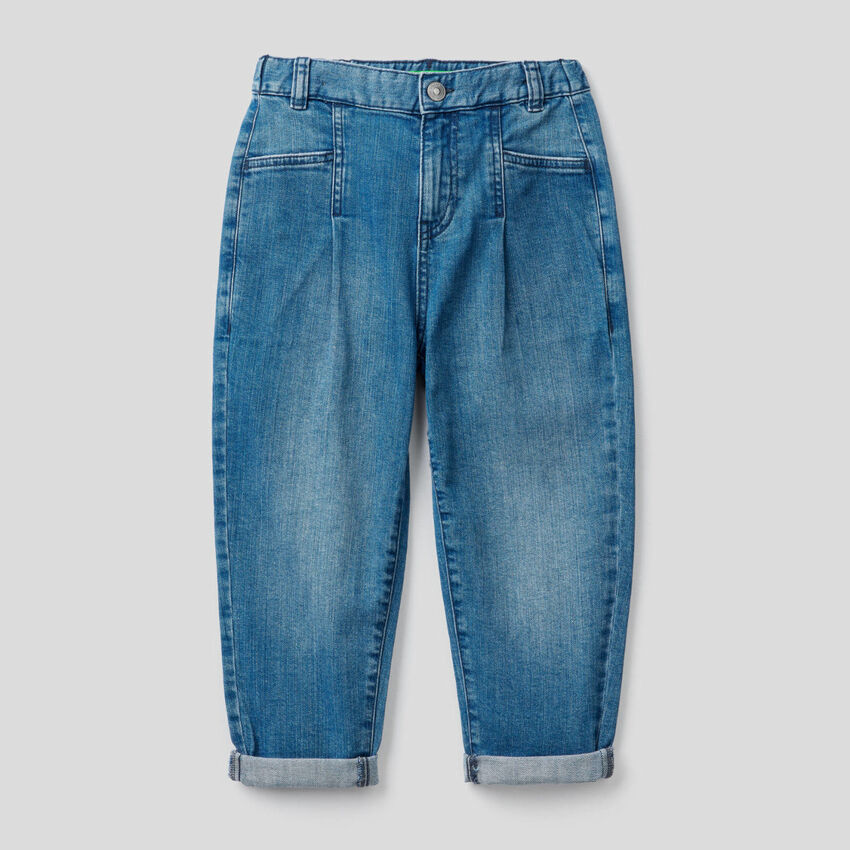 Slouchy jeans in stretch cotton