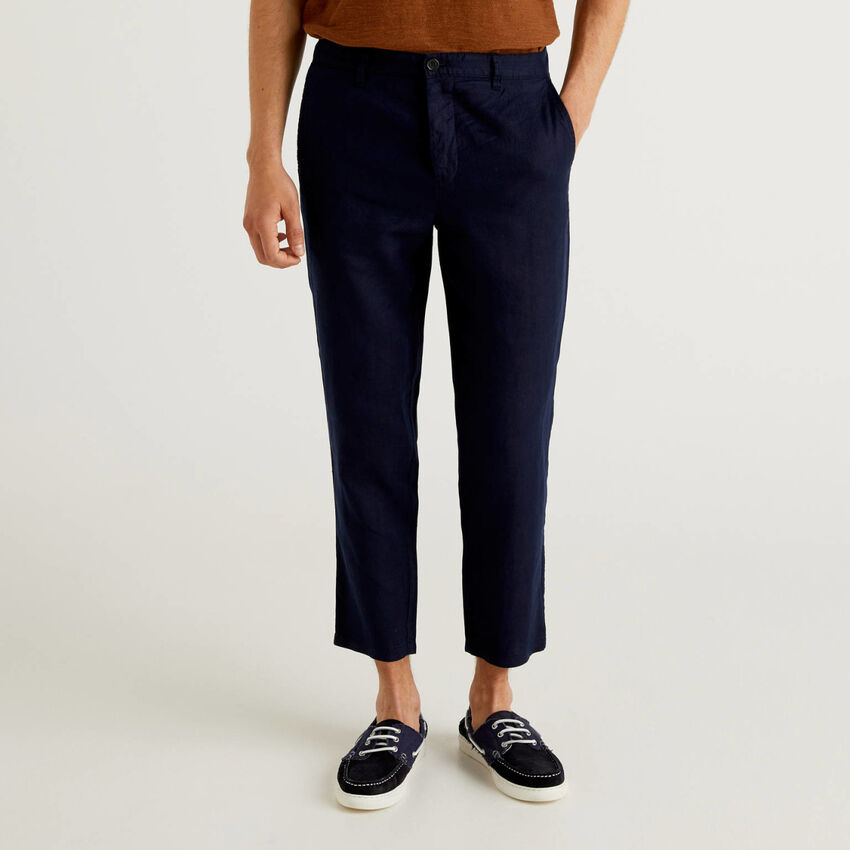 Chino pants in pure linen