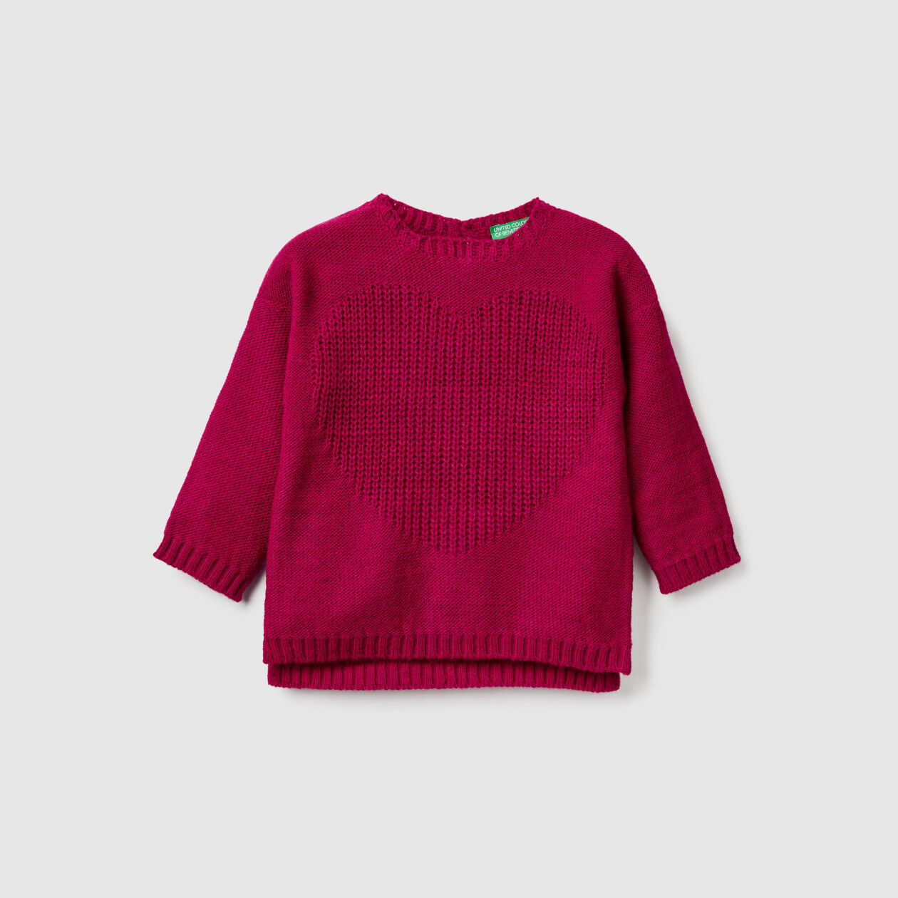 Sweater with heart motif
