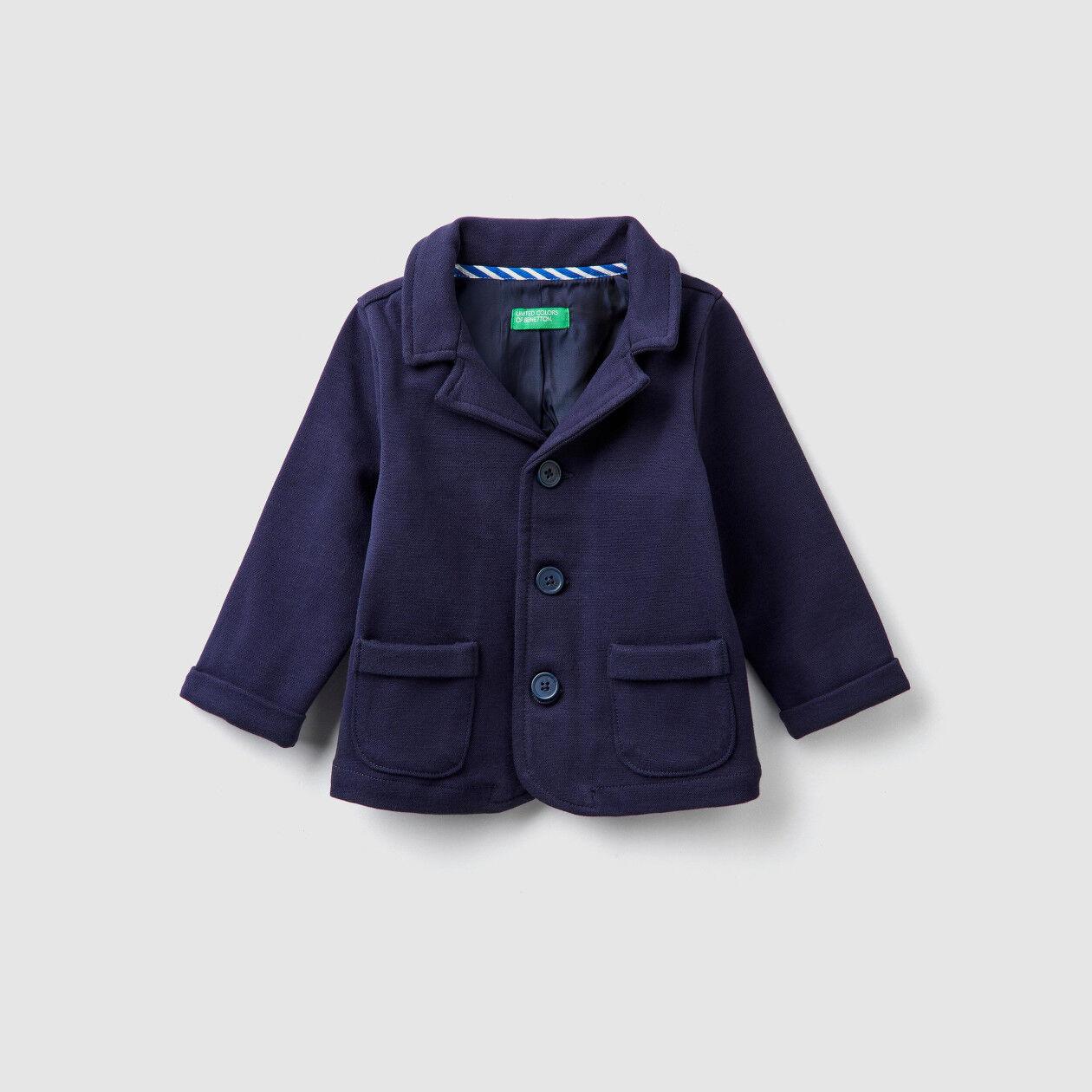 Stretch cotton blazer