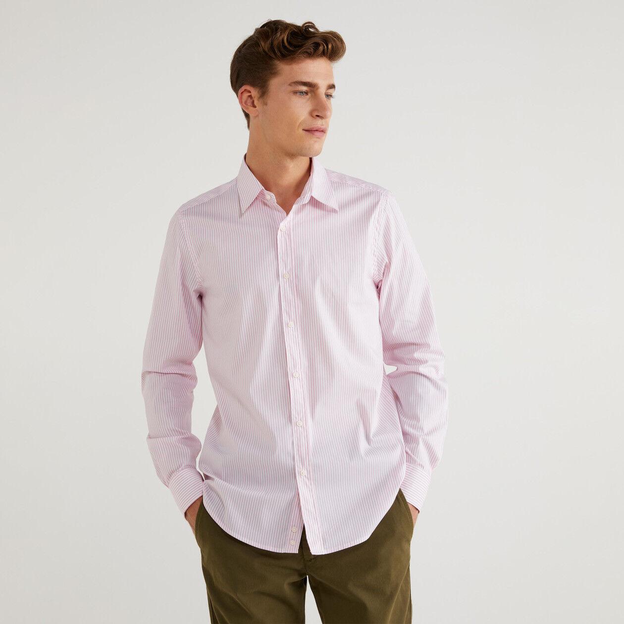Camisa slim fit de rayas
